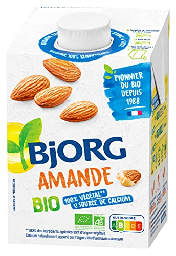 Bjorg Lait d'amande, calcium, bio - La brique de 50cl