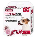 Beaphar - FIPROtec, pipettes anti-puces et anti-tiques au Fipronil - Chien de 2 à 10 kg - 4 pipettes