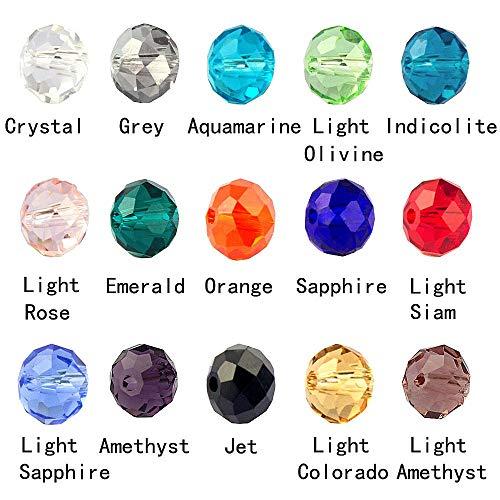 LolliBeads (TM) Millefiori Murano Lampwork cuentas redondas facetadas de cristal