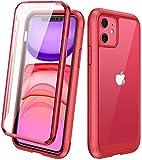 Diaclara iPhone 11 Hülle 360 Grad Bumper Case Handyhülle Transparent Schutzhülle Cover mit...