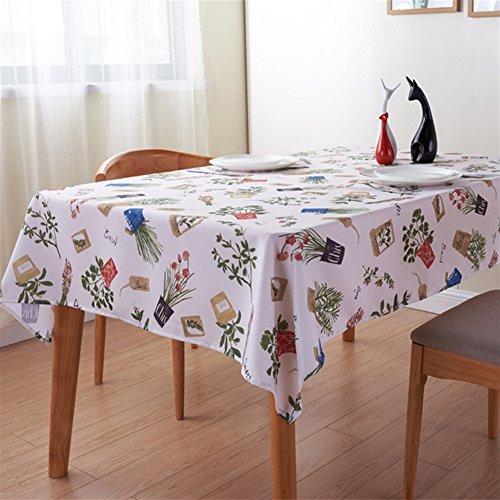Liveinu Nappe Rectangulaire Tissu de Table Lavable Entretien Facile Résistant Imperméable Anti-tâche Nappe de Table pour Picnic Cuisine Jardin Terrasse Balcon 130x180cm Thème du Jardin