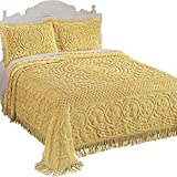 Collections Etc Calista Chenille Lightweight Bedspread...