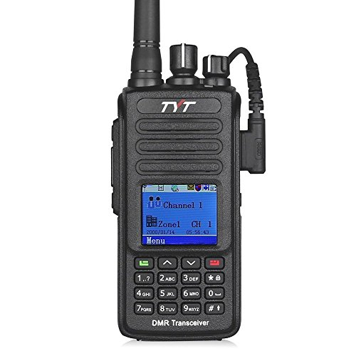 TYT Upgraded MD-390 VHF DMR Digital Radio with GPS Waterproof Dustproof IP67 Walkie Talkie Transceiver Two-Way Radio, Compatible with Mototrbo, with 2 Antenna