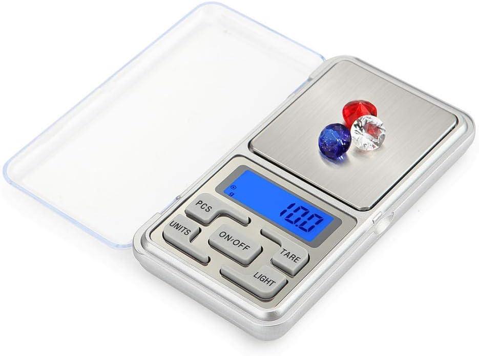 GPWDSN Balanza Digital accuweight, balanza Digital de Palma 100/200/300 / 500G X 0.01G / 0.1G Mini balanza Digital de Bolsillo para Oro, Plata esterlina, joyería, balanza, gramo, balanza electrónic