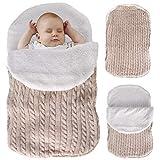 Tabpole Baby Baby Baby Baby Knit Crochet Swaddle Wrap Fleece Warm Swaddling...