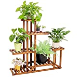unho Plants Stand Wooden Shelf Tiered Flower Rack Holder...