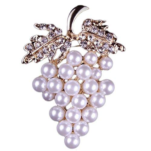 Lovinda Mädchen Frauen Silber überzogene glänzende Brosche Traube Brust Abzeichen Brosche Günstige Schmuck Kleidung Accesory Dekoration für Geburtstagsgeschenk