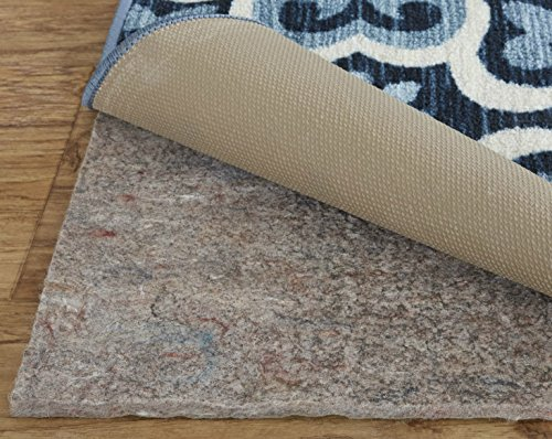 """Mohawk Home Dual Surface Felt and Latex Non Slip Rug Pad, 1/4"""" Thick, 9'x12', Brown"""