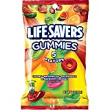 LIFE SAVERS 5 Flavors Gummies Candy Bag, 7 ounce (Pack of 12)