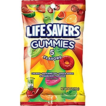 LIFE SAVERS 5 Flavors Gummies Candy Bag 7 ounce  Pack of 12