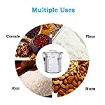 Airtight-Rice-Canisters-for-Kitchen-with-Portable-Handle-304-Stainless-Steel-Food-Storage-Containers-with-Lids-and-Locking-ClampPantry-Organization-and-Storage-for-Coffee-Tea-Nuts-Sugar-Flour-Cereal