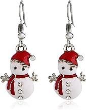 Hemore Árbol de Navidad de Joyas Pendientes 1par de Joyas árbol de Navidad de muñeco de Nieve de Navidad Navidad Decoración