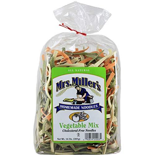 Mrs. Miller's Homemade Noodles, Vegetable Mix, All Natural & Cholesterol Free, 14 OZ (Pack of 1)