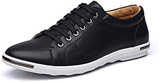 Men's Casual Fashion Sports Shoes Sports Shoes Fiber Leather Round Flat Shoes Casual Sports Belt Super Fine Breathable Wea...