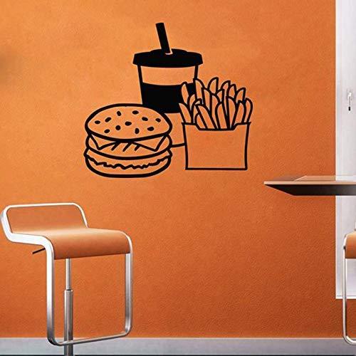 Fast Food muur Declas Hot Dog Store Logo Wall Window Decals Bakkerij en Gebakken Goederen Thuis Keuken Muursticker raamdecoratie 57 * 58cm