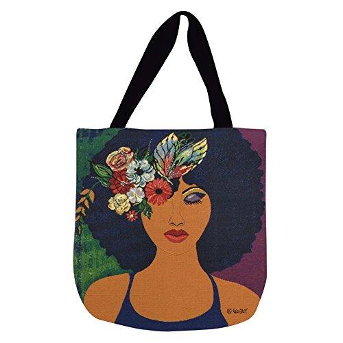 Shades of Color Bolsa sacola de tecido, Believe, Blossom & Become, 43 x 43 cm (WTB113), multicolorido
