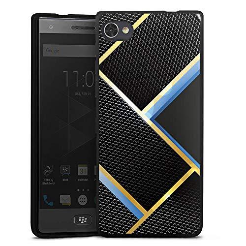 DeinDesign Silikon Hülle kompatibel mit BlackBerry Motion Hülle schwarz Handyhülle Carbon Muster Vater