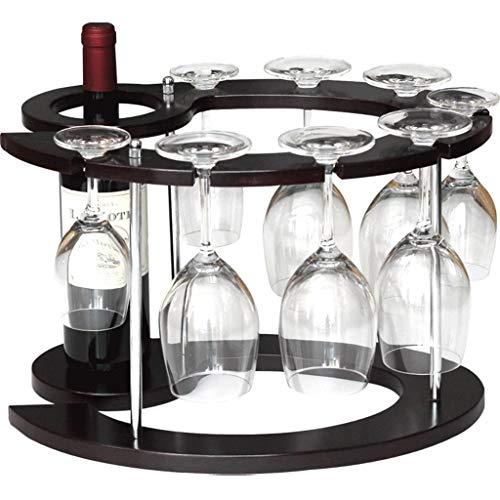 WJSWJJ Wanddekoration Anwendung 1 Flasche Composite Board Weinregal - Haushalt Wohnzimmer Multifunktionsboden Weinregal Upside Down Weinglashalter Dekoration Stemware Racks