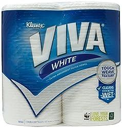 Kleenex Viva White Kitchen Towels, 60ct (Pack of 2)