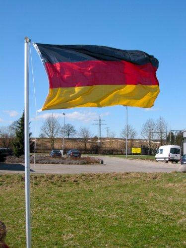 Fahnenmast 4-tlg 6,2m Fahnenstange Flaggenmast inkl. Deutschlandflagge