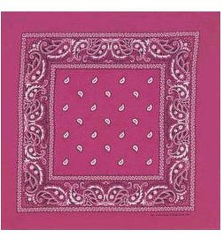 CoverYourHair Hot Pink Bandana - Paisley - Classic Paisley Bandana in Fucsia