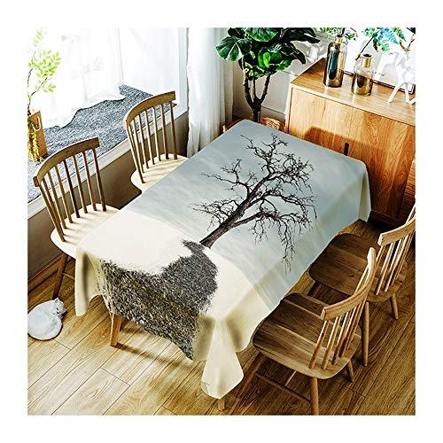 ZHAOXIANGXIANG l'art Minimaliste Tapis De Table Sky Grand Arbre Motif Décoration Maison Pique-Nique Dîner Table Cloth Impression Taille Assorties,90Cm×130Cm