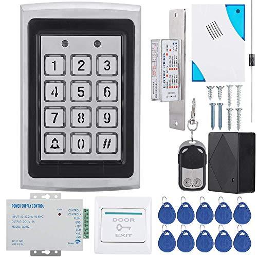 RFID Keypad Access Control System Kit Door Lock 125KHz EM Card, Door Entry Access Control System Kit Password Host Controller for Door Entry