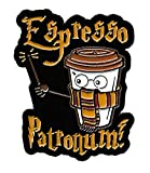 Espresso Patronum! Adorable Enamel Lapel Pin for Coffee Lovers