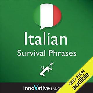Learn Italian - Survival Phrases Italian, Volume 1: Lessons 1-30 cover art