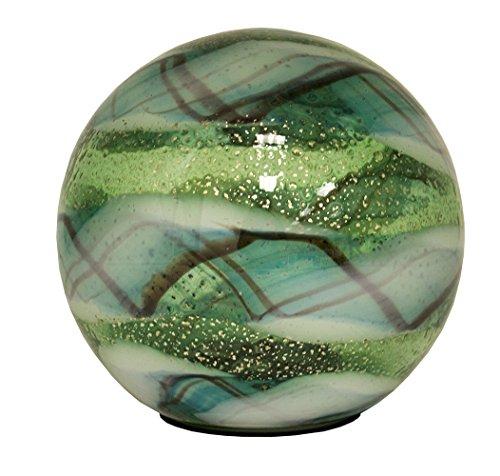 OutDoozie EODSB01030230 5.3In Art Glass Solar Orb Globe, Vittorio