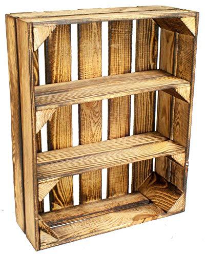Weinkiste Obstkiste Holzkiste Kistenbaron 1x Schuhschrank Schuhregal 50x40x30cm geflammt