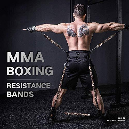 YNXing MMA Boxtraining Widerstand Band Set Verbessern Explosive Kraft Krafttrainingsgeräte für Muay Thai, Karate Combat, Fitness, Basketball, Volleyball