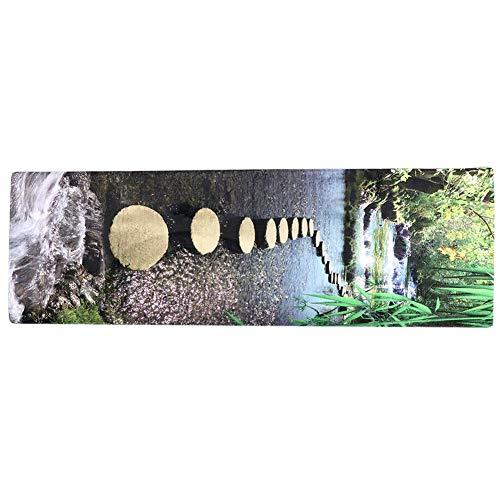 Oumefar Alfombrillas para el hogar Alfombra Antideslizante Segura de Mano de Obra Exquisita Absorbe eficazmente el Agua Alfombrilla Resistente y Duradera para Silla de Oficina(60 * 180)