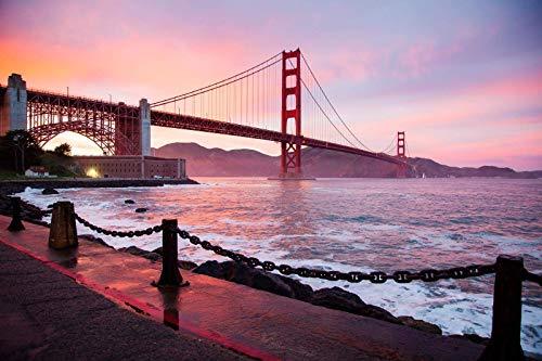 Sea Golden Gate Bridge Paisaje Patrón 1000 piezas de rompecabezas, juguetes educativos para niños, juegos de padres e hijos, juegos de desarrollo intelectual