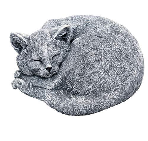 Stone and Style Steinfigur Kater Carlos schlafend Katze frostfest wetterfest Gartenfigur