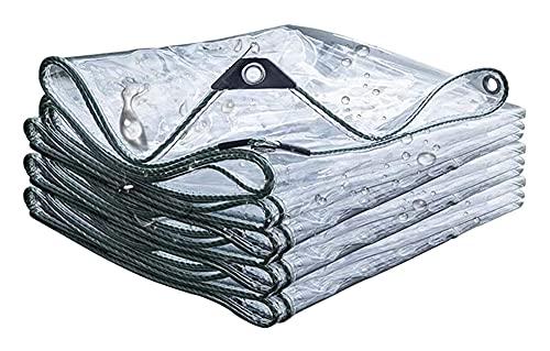 HLLING Abdeckplane Transparent Draussen Weiche Plastikplane Mit Ösen wasserdichte Plane 460g/m2 Reißfestigkeit Pflanzendecke (Color : Clear, Size : 2.3x4.5m)