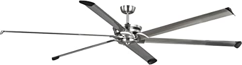 """2021 Huff Collection Indoor/Outdoor 96"""" Six-Blade Brushed Nickel Ceiling high quality high quality Fan online sale"""