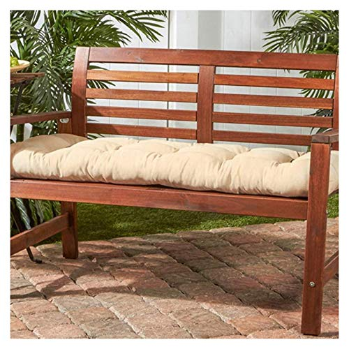 Bench Cushion Pad Garden 2 or 3 Seater, Rectangle Bench Seat Soft Pad Mat Chaise Swing Chair Cushion for Metal Wooden Benches,Beige-45x130cm