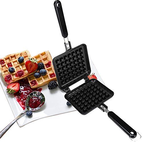 Baffect Stove Top Waffle Iron Plates, Deep Fill Non-Stick Teflon Coating...