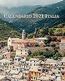Calendario 2021 Italia: Lunes-domingo, diciembre-enero con fotos de ciudades y pueblos italianos