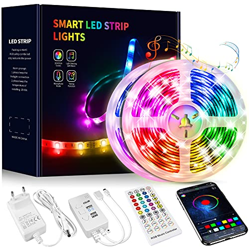 Tiras LED 15 Metros, Beaeet Luces LED 5050 RGB Tira LED con...