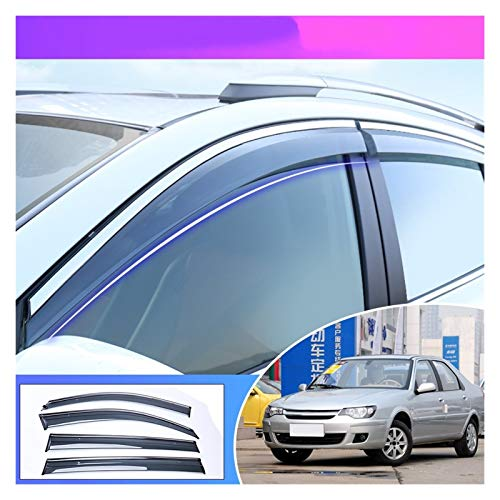 Deflectores de Viento Coche Styling Smoke Window Sunny Visor Sun Rain Visor Deflectors Guard para Citroen C-Elysee 2008 2009 2010 2011 2012 2013 2013 Cortavientos para ventanilla