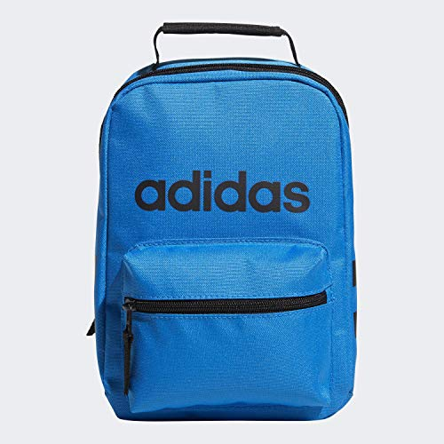 adidas Unisex Santiago Insulated Lunch Bag, Bright Blue/ Black, ONE SIZE