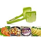 BESTOMZ Multifunzionale tondo frutta taglierina di verdure affettatrice per pomodoro limone patata pera (verde)