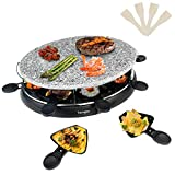 Best Raclette Grills - Raclette Grill with Non-Stick Natural Stone, Raclette Machine Review