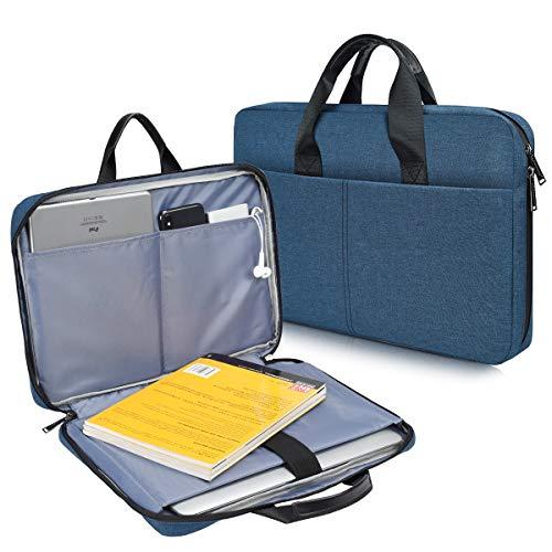 CaseBuy 180° Open Laptop Messenger Bag for HP ENVY X360/Pavilion 15/ProBook/EliteBook 15.6, Acer Aspire 5 Slim/Nitro 5/Aspire 15/Chromebook 15, Lenovo Ideapad 15.6, Dell G3/G5 Laptop, Waterpoof Case
