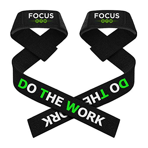 Premium Pro, Padded Weight Lifting Wrist Straps for Crossfit, Weightlifting, Powerlifting, Bodybuilding, Deadlifts, Functional Fitness Training (Pair) (Black)