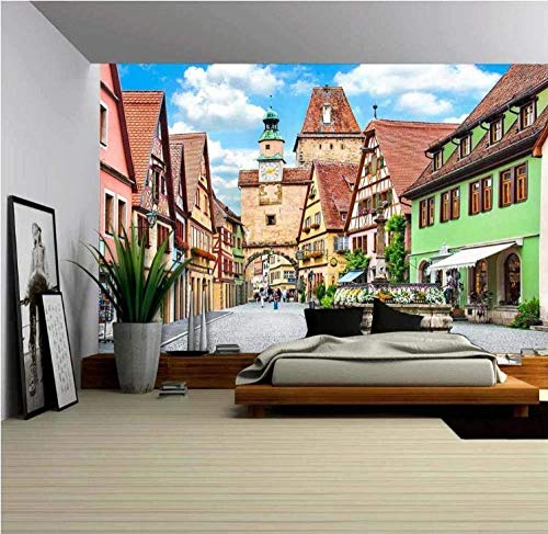 Murales Tropicales Isla Arco Iris, Italia Pared Papel 3D Papel Pintado Dormitorio Sala Tv Fondo Decoración De Pared Decorativos Murales 150Cmx100Cm