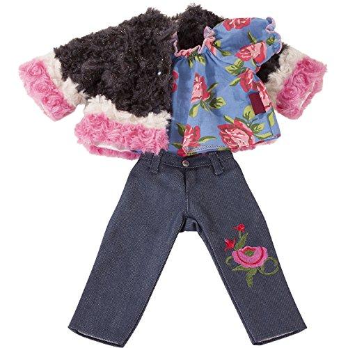 Götz 3402928 Kombi Iconic - für modebewusste Puppen - 3-teiliges Bekleidungsset für Stehpuppen mit Einer Größe von 45 bis 50 cm