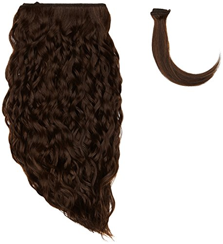 Sans chear vague trame Extension de cheveux humains avec de mélange tissage, numéro 4, Taille M, marron foncé 30,5 cm